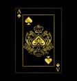 spades ace gold
