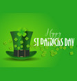 st patricks day background with top hat and vector image vector image