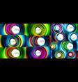 swirling spiral background set colorful stripes vector image