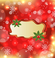 template frame with mistletoe for design christmas vector image vector image