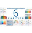 templates business infographics 6 positions vector image