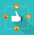 thumbs up icon for web successful business vector image