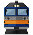 train head with blue color vector image vector image
