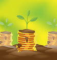 Tree Saving Finance Coin Money vector image