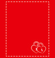 valentine card frame love letter with empty space vector image