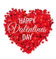 valentines day poster with red hearts white vector image vector image