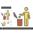 Waste collection line icon vector image vector image
