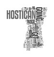 you can host your own web site with hostican text vector image vector image