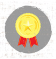 winner medal with golden star icon with screen vector image