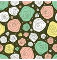 retro flower pattern vector image