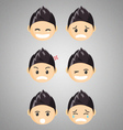 different male chibi reaction faces vector image