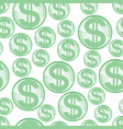 abstract dollar seamless pattern vector image vector image