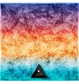 Abstract rainbow web bacground Triangles vector image vector image