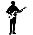 abstract silhouette of guitarist vector image