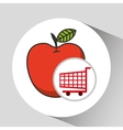 apple ecommerce shopping cart graphic vector image
