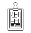 architect clipboard icon outline style vector image vector image