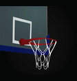 basketball basket on black background vector image