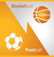 basketball vs football vector image