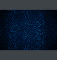 binary code dark blue background big data vector image vector image