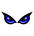 blue eye owl logo icon concept vector image