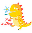 brightly amusing dinosaur vector image