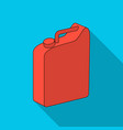 canister for gasolineoil single icon in flat vector image