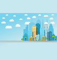colorful cityscape background vector image vector image