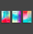 colorful gradient cover template set design vector image vector image