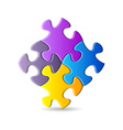 Colorful puzzle pieces vector image vector image