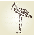 decorative stork vector image