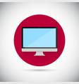 Desktop flat icon vector image