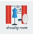 dressing room Studio on white background flat vector image