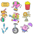 element circus colorful doodle style vector image vector image