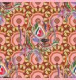 ethnic ornament on neutral orange and beige vector image vector image