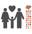 family love icon with valentine bonus vector image vector image