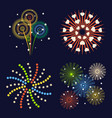 firework different shapes colorful festive and vector image vector image