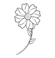 flower with stem icon imag vector image vector image
