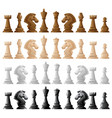 four set of chess pieces vector image vector image