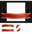 frame gold ribbon vector image vector image