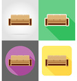 furniture flat icons 10 vector image vector image