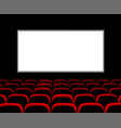 hall for watching movies cinema concert vector image