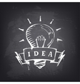 Hand Drawn Banner with Light Bulb vector image vector image