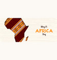 happy africa day banner african paper cut map vector image