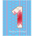 Happy birthday one card vector image