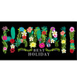 hawaii flowers graphic design vector image
