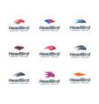 head bird logo collection set animals logo design vector image vector image