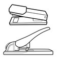 heavyduty stapler set vector image