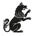 heraldic pet dog or wolf animal rampant vector image vector image