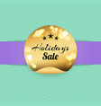 holiday sale golden label with stars best prices vector image vector image