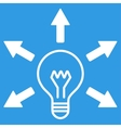 Idea icon from Business Bicolor Set vector image